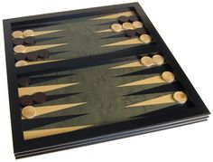 Plateau Backgammon Bois (Vert) - 36 cm