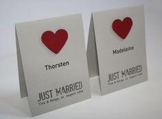 Platzkarten I Tischkarten I Namenskarten in grau