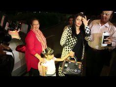 Aishwarya Rai with mother & daughter Aaradhya at Mumbai airport.