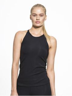 Stella Tank Tops in Black by Jonathan Simkhai X from Long Tank Tops, Black Tank Tops, Muscle Tank Tops, Jonathan Simkhai, Fashion Details, Basic Tank Top, Athletic Tank Tops, Active Wear, Feminine
