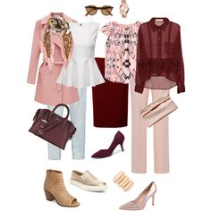 Ensemble: Summer Burgundy & Blush by youlookfab on Polyvore featuring Marni, J.Crew, N°21, Monki, Charles David, Steve Madden, Kelsi Dagger Brooklyn, City Classified, DKNY and Marie Turnor