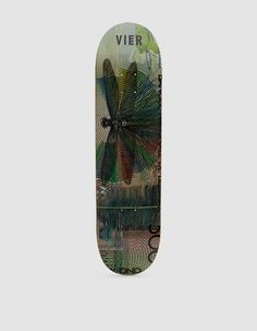 Skateboard deck from Vier Antwerp in Butterfly. Seven-ply construction. Screen-printed bottom graphic.   • Canadian maple