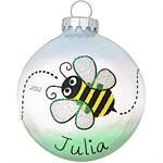 Bumblebee Ornament by PuddleofPaint on Etsy