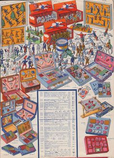 The last pages of that French toy catalog Toy Catalogs, December 2013, Needlepoint Kits, Toy Soldiers, The Collector, Vintage Ads, Coloring Books, Toys, Crafts