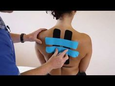 ▶ How to treat Back Pain / Rhomboid Pain - Kinesiology Taping - YouTube