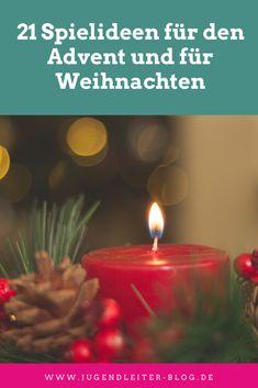 21 Spielideen für den Advent und für Weihnachten November 2019, Tea Lights, Xmas, Blog, Candles, Winter, Activity Toys, Advent Season, Christmas Time