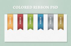 Free Colorful Ribbon PSD , http://www.webdesignviews.com/download/15452/