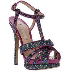 Nicholas Kirkwood glitter platform sandal