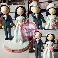Engineer bride n groom in height cake topper Baby Baptism, Christening, Wedding Cake Toppers, Wedding Cakes, Birthday Souvenir, Polymer Clay Cake, Wedding Giveaways, Cool Baby Stuff, Purple Wedding