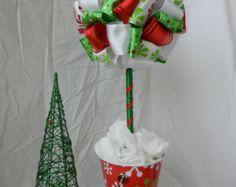 Metallic Poinsettia Topiary by TheLemonLeaf on Etsy