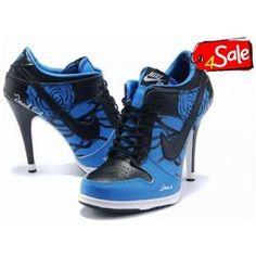 detailed look 9ed6d 522ad Nike High Heels Dark Blue Nike Heels Black High Heels, Nike High Heels,  Womens