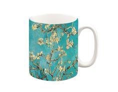 Van Gogh Blossom Mug The picture will wrap around the mug. A ceramic Microwave and dishwasher safe :) All our mugs are printed in our design