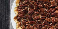 Bourbon Pecan Pie  I make this twice a year - Thanksgiving and my husband's birthday! @Garden & Gun