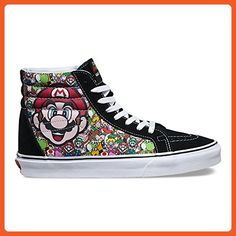 affe376182 Vans SK8-Hi Reissue X Nintendo Nintendo Mario Luigi True White Skate Shoes -