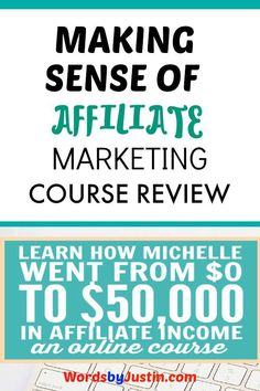 How can you make money with affiliate marketing? Learn from the best with this great course from the founder of MakingSenseOfSense.com.  #blogger #blogtips #blogadvice #bloggingtips #bloggers #affiliate