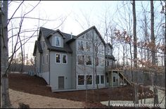 Mountain home style floor plan with endless windows.