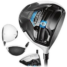 Low forward center of gravity on these mens SLDR white golf drivers by Taylormade promote high launch, fast ball speed and low spin for phenomenal distance