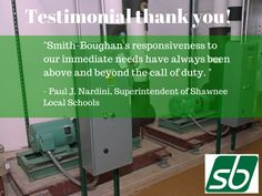 A fantastic testimonial of our work at #educational #facilities. #mechanical #services http://www.sbmech.net/