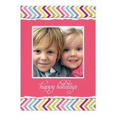 Merry & Bright Double Sided Holiday Photo Card