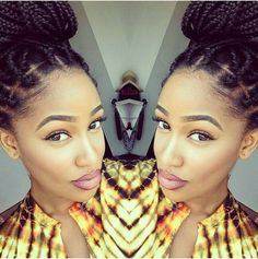 Braided Beauty • Box Braids • Protective Styles • Box Braids Bun • Braided UpDo • Extensions • Singles • Braids •