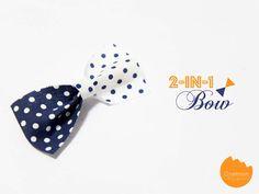 DIY Tutorial: 2-in-1 Bow | @Onellyantie Chuah 2in1 bow, easy diy bows