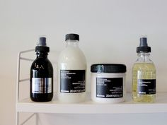 """Davines= AMAZING. An Italian salon product line that makes the most amazing, natural products. This pic feautures the """"OI"""" line of shampoo, conditioner, and styling products...new to the line but one of their best products."""