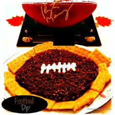 Peanut Butter Chocolate Chip Cheese Ball is perfect for game day!