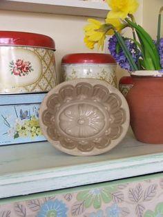 Vintage Pottery Jelly Mould