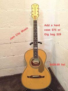 Fender Ron Emory Loyalty Parlor 12th Fret Acoustic Guitar - Ash Butterscotch 304-374-3194 www.jamcitymusicusa.com www.jamcitycentral.com on ebay