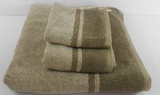 Calvin Klein Home 3 Piece Brown Bath Towel Set 100% Cotton #CalvinKlein