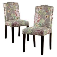 Threshold™ Camelot Nailhead  Dining Chair - Pink/Brown Floral (Set of 2)