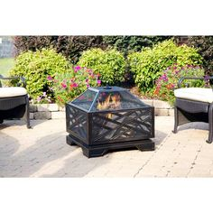 Pleasant Hearth Martin 26 in. Extra Deep Fire Pit-OFW165S - The Home Depot