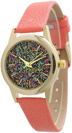 6c9690921 OLIVIA PRATT Olivia Pratt Womens Pink Strap Watch-40002coral Lady In Red,  Stainless Steel