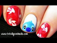 Lilo and Stitch Nail Art Disney Collab with HelloMaphie. stitch my favv.