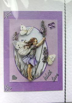 Lavender Fairy 3D Decoupage Card - With Love (1449)