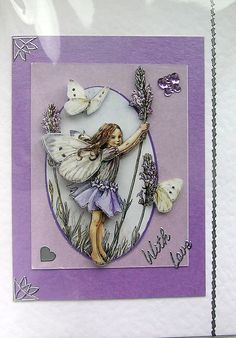 Lavender Fairy 3D Decoupage Card - With Love (1449)
