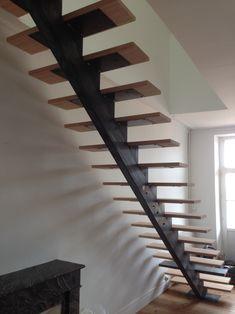 escalier fer / bois industriel