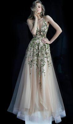 Jovani Prom 60800 Gold Multi Open Back Embellished Prom Dress 60800 A Line Prom Dresses, Tulle Prom Dress, Colored Wedding Dresses, Pageant Dresses, Modest Dresses, Fairy Prom Dress, Ombre Wedding Dress, Ombre Prom Dresses, Beaded Gown