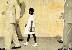Problem We All Live With by Norman Rockwell -- Ruby Bridges 6, New Orleans who changed history in 1960.