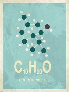 Molekyle Pebermynte 30x40
