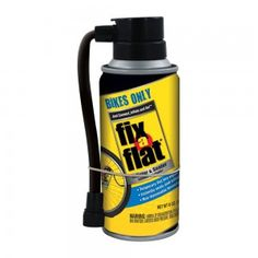 Fix-A-Flat Bikes Only instantly seals punctures in bicycle tires with tubes and inflates in seconds allowing you to finish your ride without having to change the tube. No tires levers or patches required. Inflates a 26 inch bicycle tire to 36 psi in seconds.