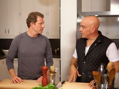 Make your healthy routine stick by getting support from a friend. In #BobbyFlayFit, chef Bobby Flay gets support in the kitchen and in the gym from his pal, Iron Chef Michael Symon.