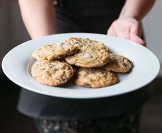 Salted Chocolate Chip Cookies via SHM