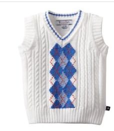 Kitestrings Sweater Vest for Baby Boy.  Like our fanpage at www.facebook.com/lovebabyclothes