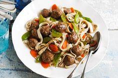 Asian Spaghetti  Meatballs recipe the-snob-diet