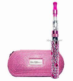 girly vape mods | Home New Pink Crystallized Vape Kit