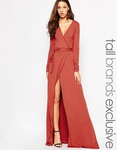 TTYA+Thigh+Split+Wrap+Maxi+Dress