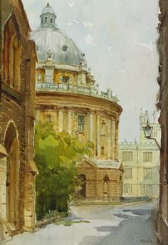 Radcliffe Camera, Oxford, Anthony Morris Manchester College, Camera Drawing, Oxford England, Water Colors, Vintage Travel Posters, Painting Inspiration, Creative Ideas, Postcards, Original Artwork