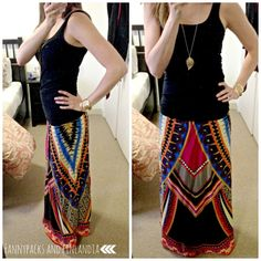 summer maxi with gold accessories