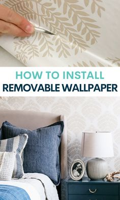 Removable wallpaper is a gamechanger when it comes to decroating a rental. I'm showing you everything you need to know to install it like a pro! More Wallpaper, Peel And Stick Wallpaper, Rental Decorating, Decorating Tips, Game Changer, Pretty Good, Party Planning, Diy And Crafts, Craft Projects